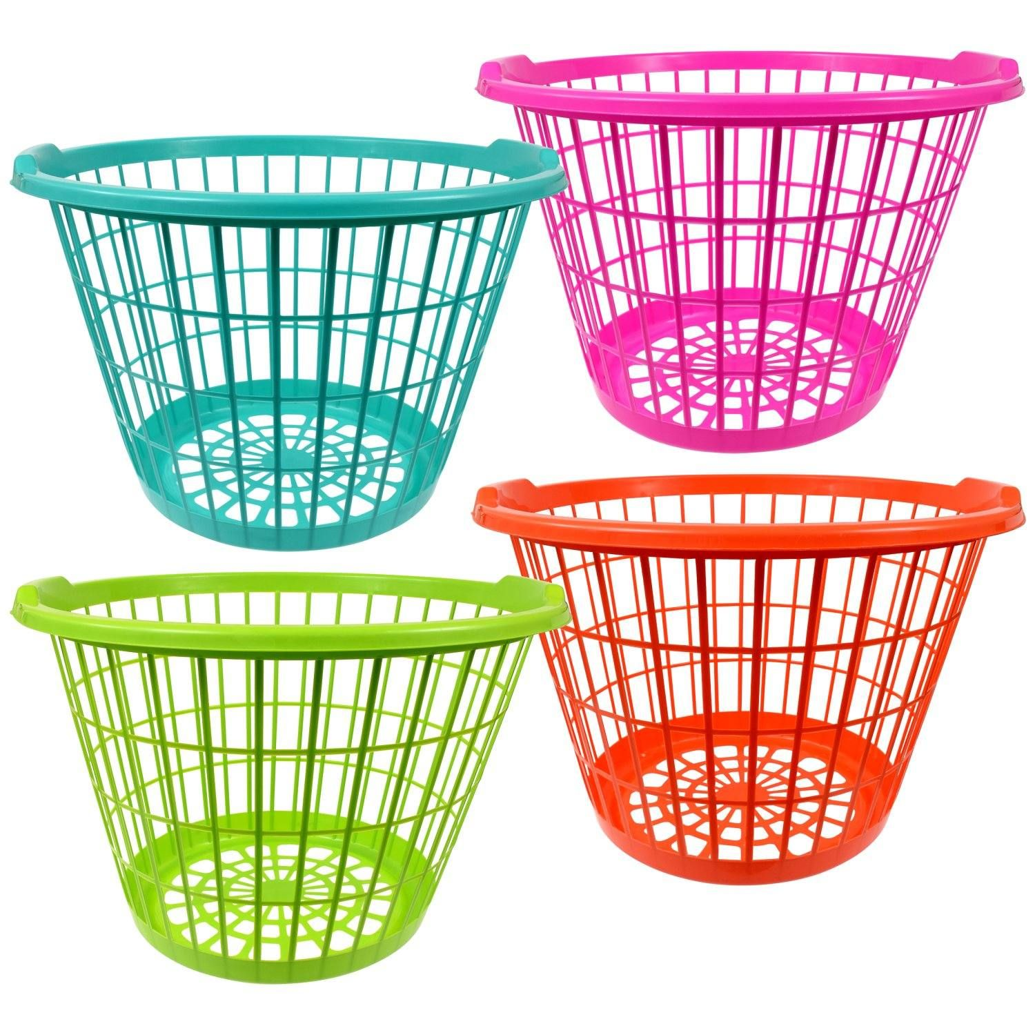 Large Colorful Plastic Laundry Baskets 17 5x12 In Plastic Laundry Basket Laundry Basket Toy Storage Baskets