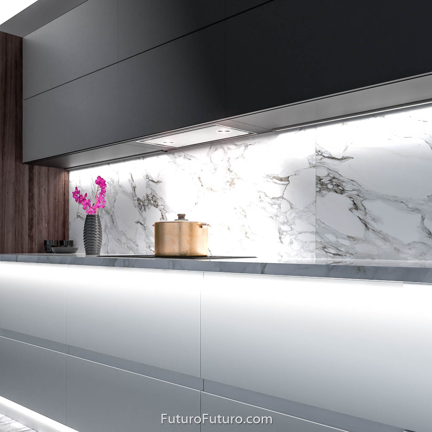 24 Raccolta Insert Designed For Kitchens Where A Minimal Clean Look Is Desired The Raccolta Seri Minimalist Kitchen Design Range Hood Kitchen Ventilation