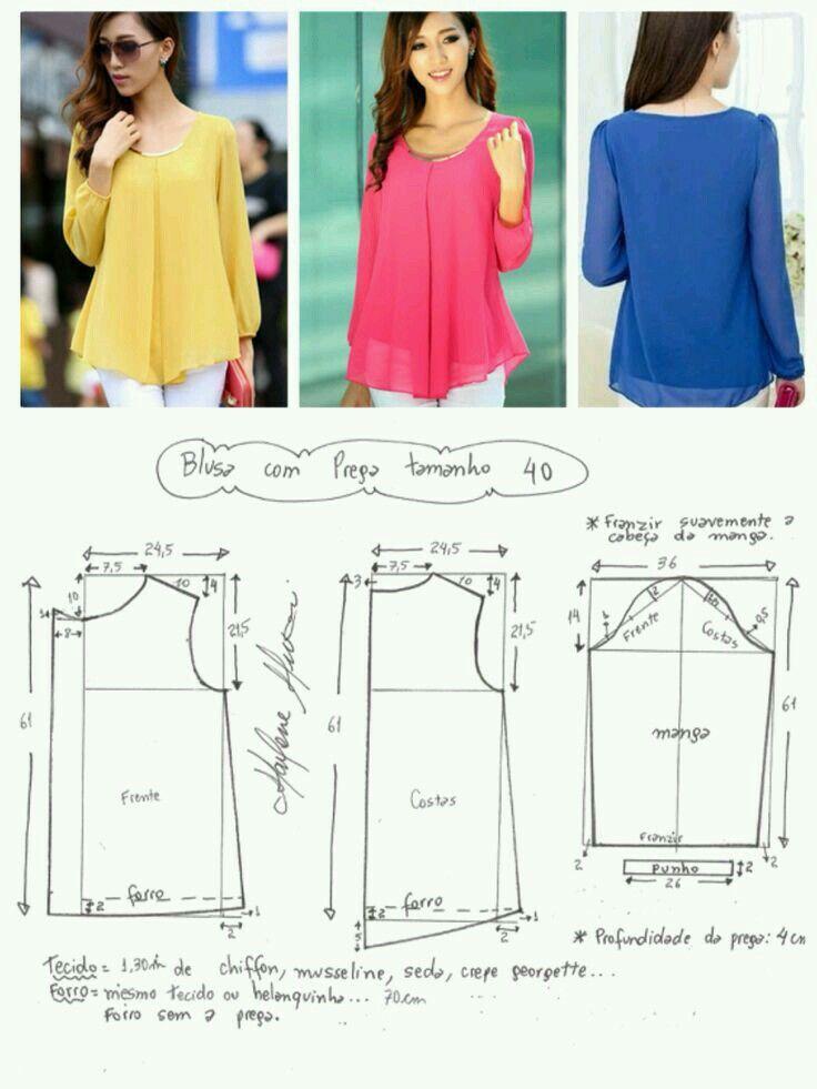 Patrón blusa sin mangas holgadas | Mama | Pinterest | Costura ...