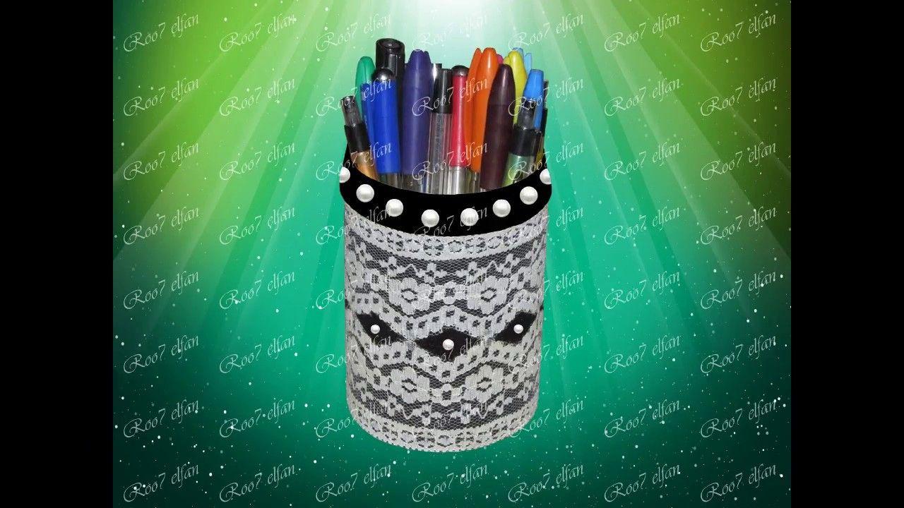 حافظة أقلام من زمزمية تالفة Pens Organizer Out Of Disposable Canteen Convenience Store Products Organization Supplies