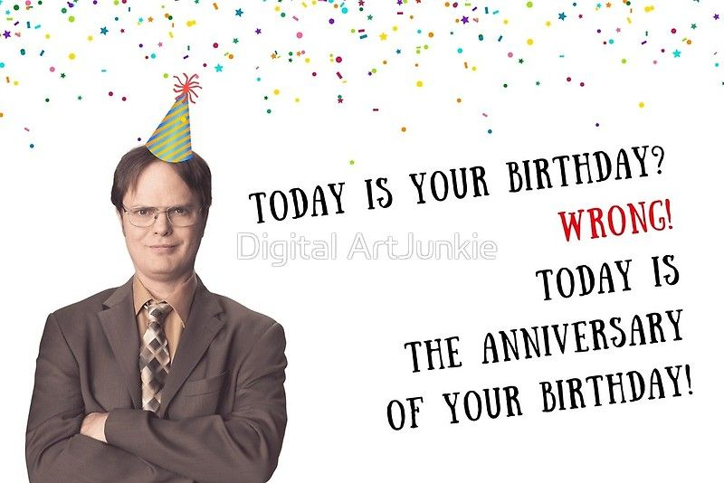 'Dwight K Schrute card, The Office US birthday card, meme