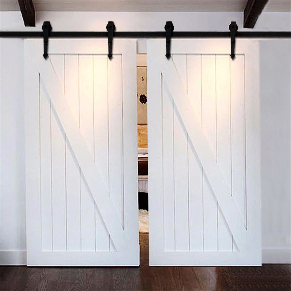 Barn Door Hardware 12ft Arrow Black Double Door Remodelinggarage Barn Door Closet Barn Doors Sliding Barn Door