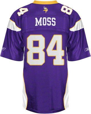 separation shoes e89ce 62097 Randy Moss Vikings Jersey: Reebok Purple #84 Minnesota ...