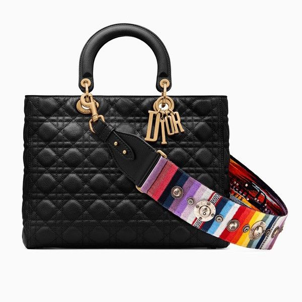 Dior Lady Dior Semi Structured Medium with Flap and Block Charms ZV93Q31cXQ