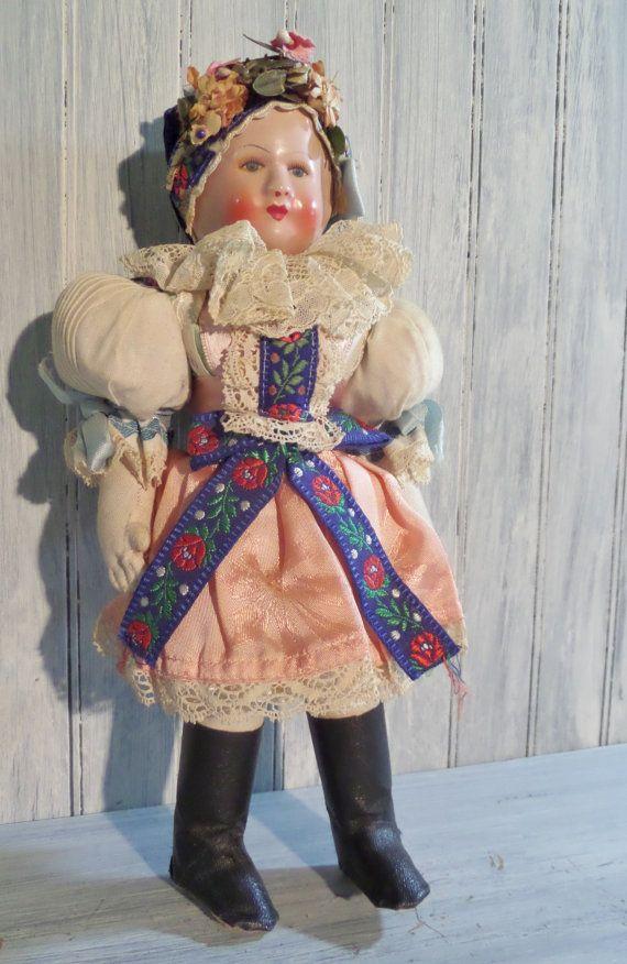 Vintage Czech Doll by Lovinias on Etsy, $32.00