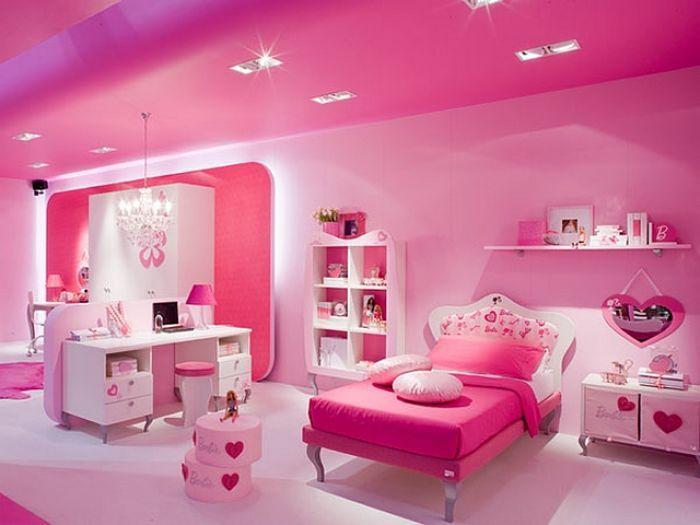 Decoraci n de cuarto de ni a habitaci n nena recamara habitaci n rosa y dormitorios - Habitaciones de nina decoracion ...