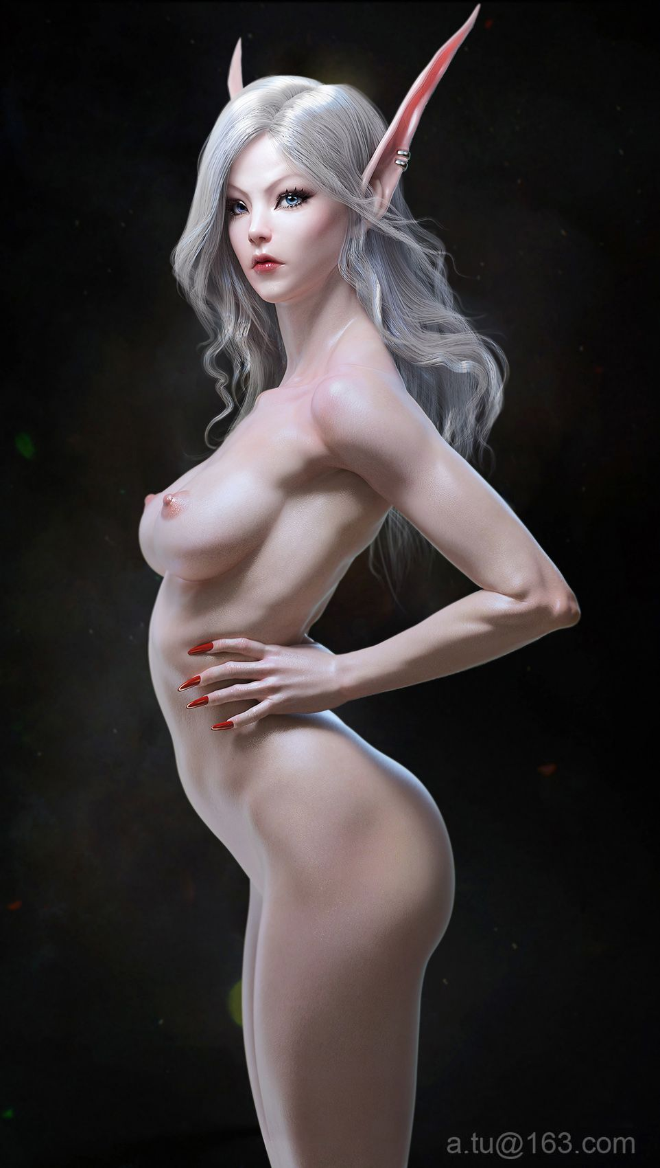 Interesting Nude elf fantasy art