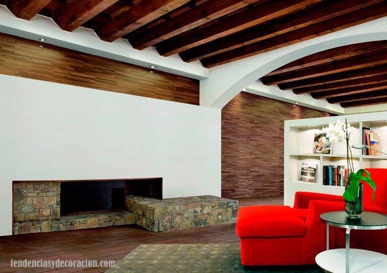 Blogtendenciasydecoraci n 15 hogares chimeneas con estilo chimeneas chimneys pinterest - Chimeneas con estilo ...