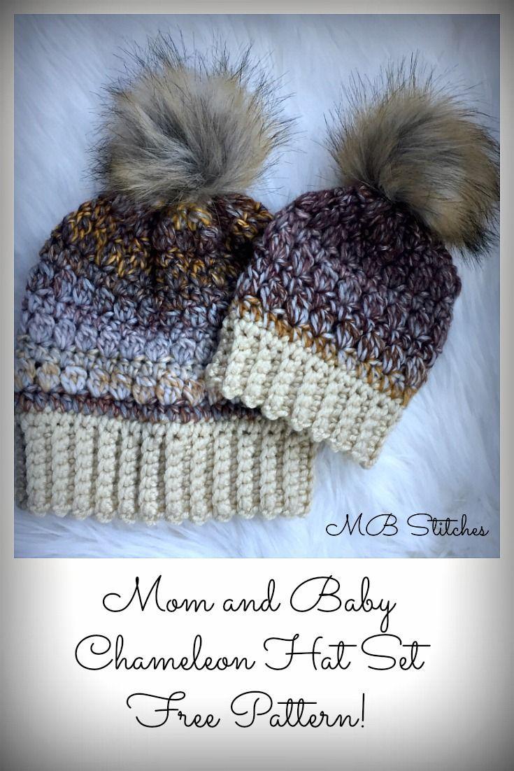 Mom and Baby Chameleon Hat Set   Crochet   Pinterest   Gorros, Gorro ...