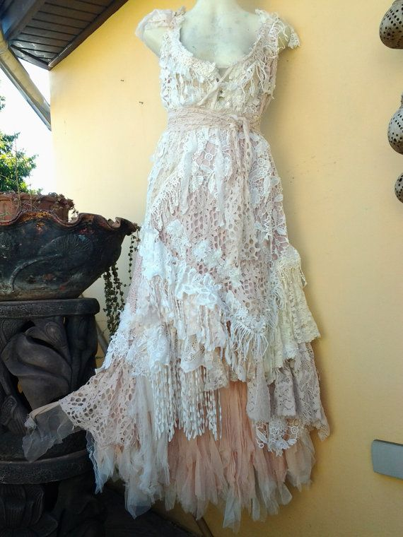 RESERVED boho wedding dress formal brides maid bohemian lagenlook ...