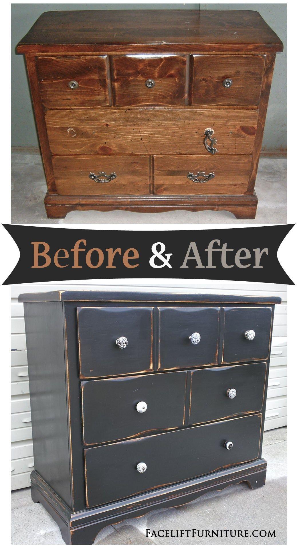 distressed black dresser before after pinterest pine dresser