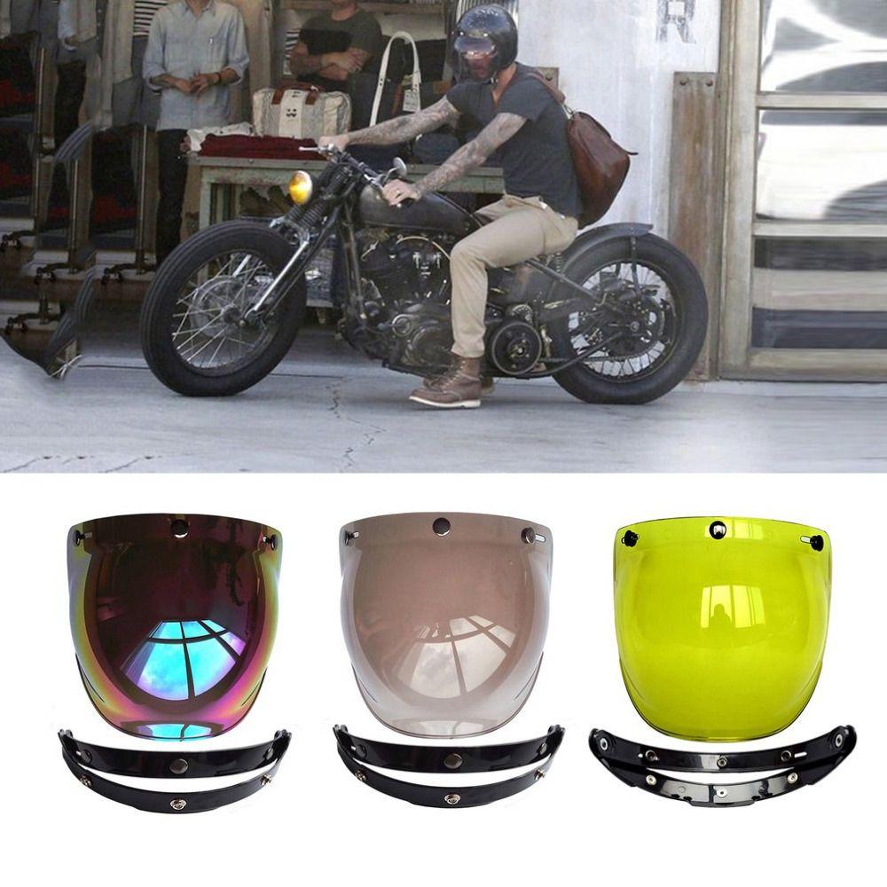 80f039ee sale motorcycle windshield helmet vintage style helmets 3 snaps jet helmet  for harley style helmet #harley #windshield