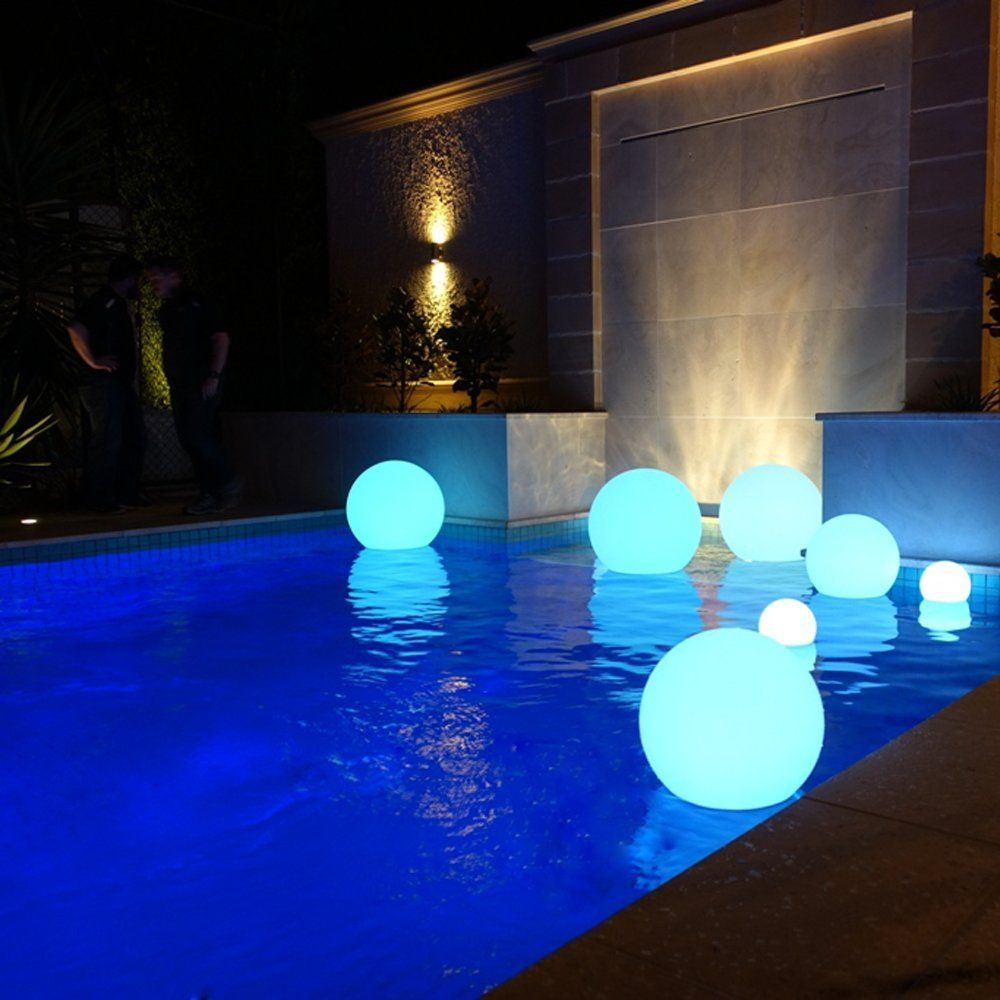 Loftek Led Light Ball 12inch Glow Balls With Remote Control Rechargeable Pool Light Rgb Color Changing Floating Or Floating Pool Lights Pool Lights Pool Decor