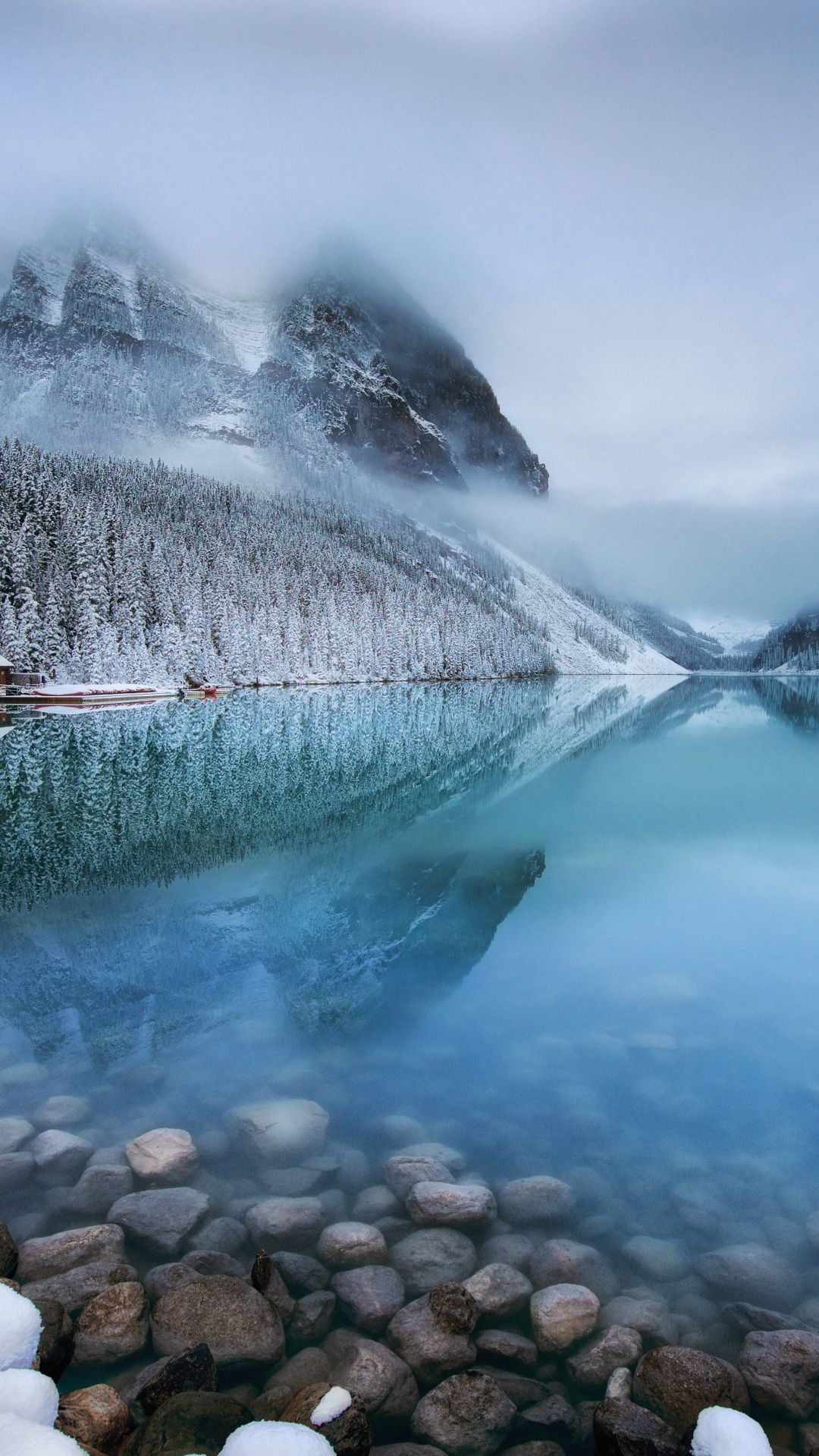 Lake Louise Rocks Forest Nature Mountains Clouds Canada 1080x1920 Wallpaper Nature Aesthetic Scenery Landscape Hd wallpaper lake ice mountains valley