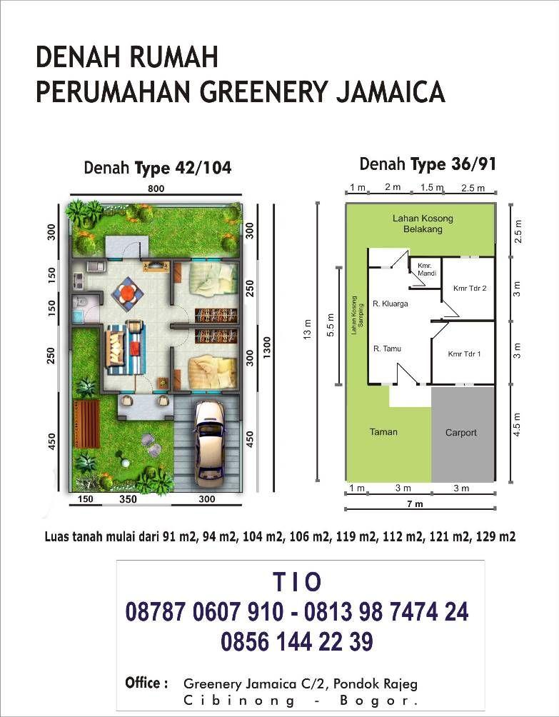 Home Design Type 70 Part - 42: Denah Rumah Type 36 Dan 42