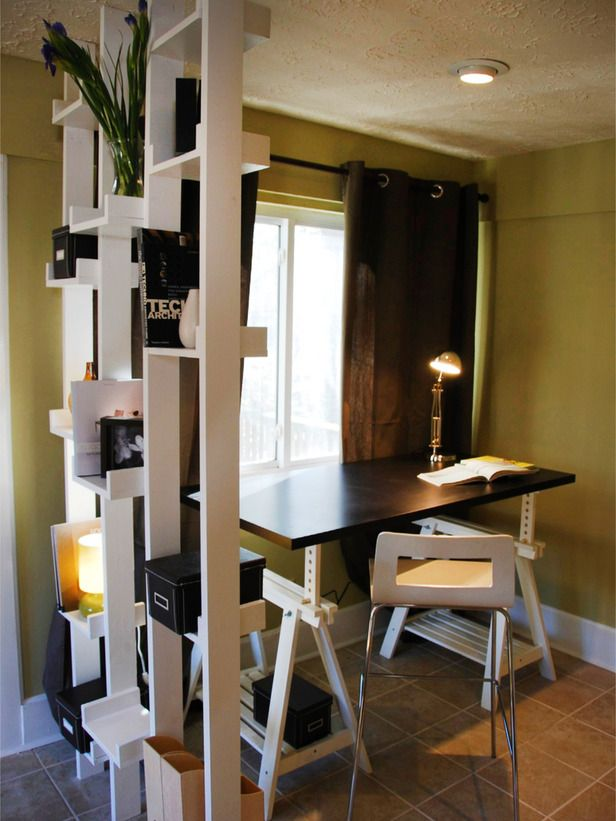 20 Great Ideas For Partition With Shelves Small Home Offices