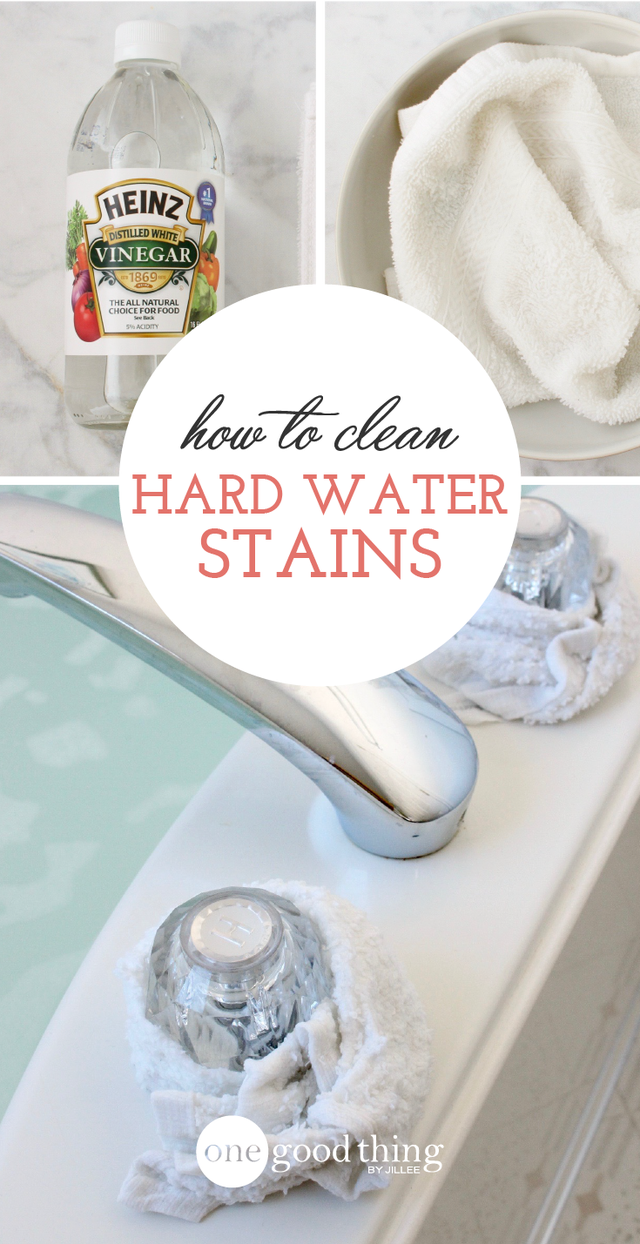 How To Remove Those Stubborn Hard Water Stains (One Good Thing By ...