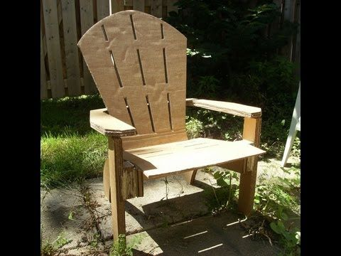 How To Homemade Cardboard Adirondack Chair With Images