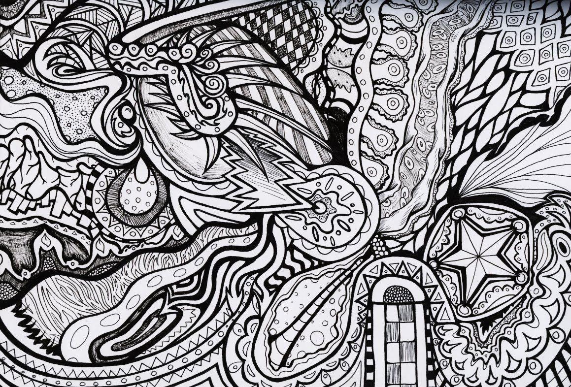 Perfecto Libro Psicodélico Para Colorear Elaboración - Dibujos Para ...