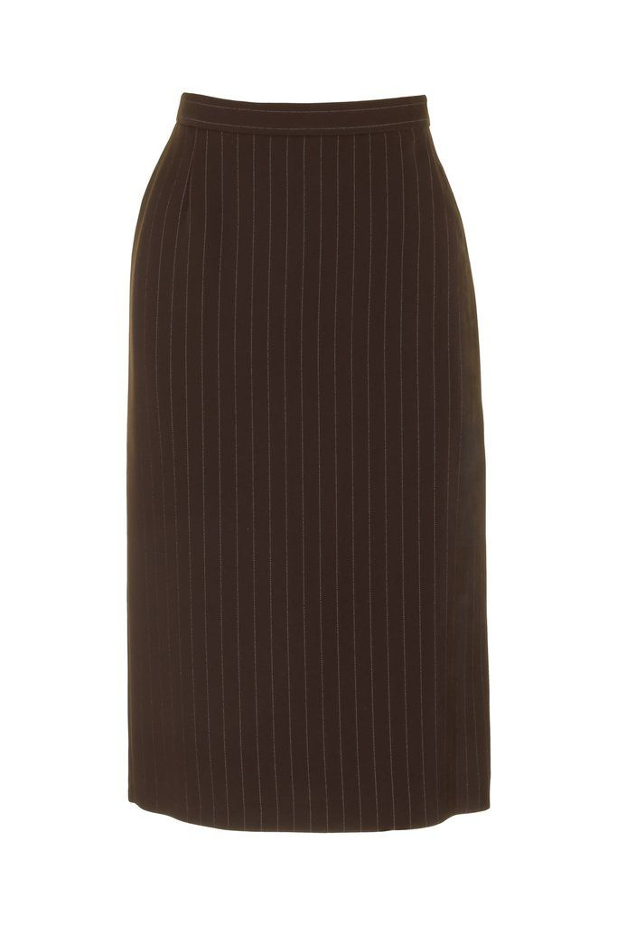 Busy Clothing Womens Brown Stripe Pencil Skirt | Busy Clothing ...