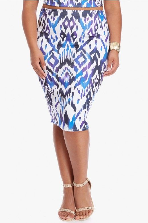 Ithaca Ikat Pencil Skirt