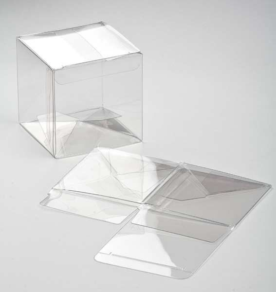 3 X 3 X 3 Crystal Clear Boxes Pop Lock 25 Pieces Plb58