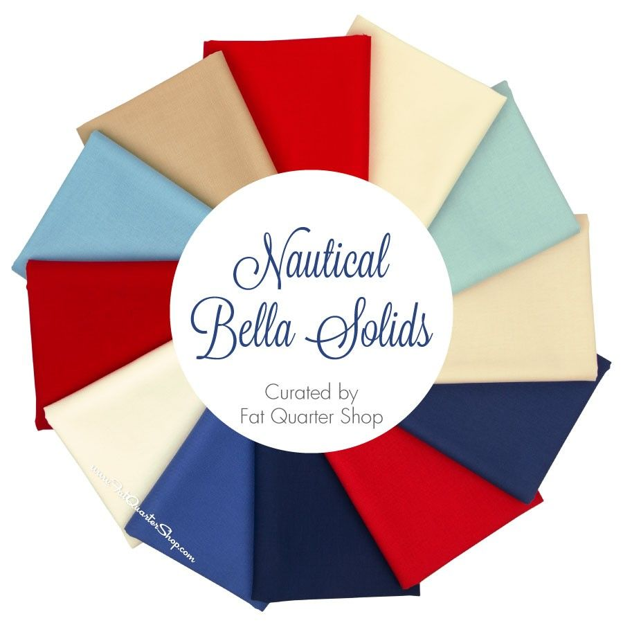 Nautical Bella Solids Fat Quarter Bundle<BR>Curated by Fat Quarter Shop
