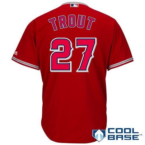220b2fc09 Mike Trout Los Angeles Angels Majestic Cool Base Player Jersey - Scarlet  (Red)