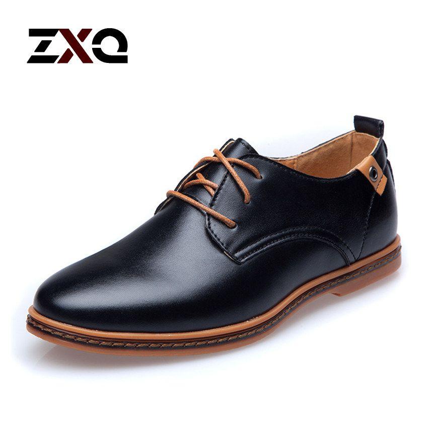 pretty nice ad3c4 d6a77 2015 de cuero casuales hombres zapatos moda hombre pisos punta redonda  cómoda oficina Dress hombres zapatos en Pisos para hombres de Calzado en ...
