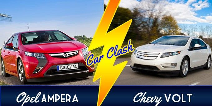 Opel Ampera Vs Chevrolet Volt Car Clash Chevy Volt Vs Opel