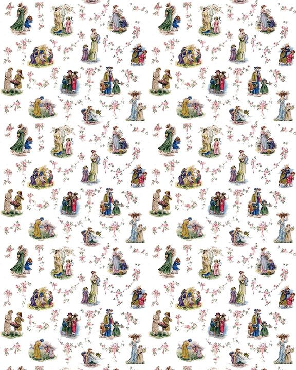 Download Dollhouse Wallpaper Vintage Children 02