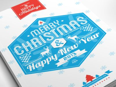 Dribbble - Typography Merry Christmas Card 2013 by Lemongraphic