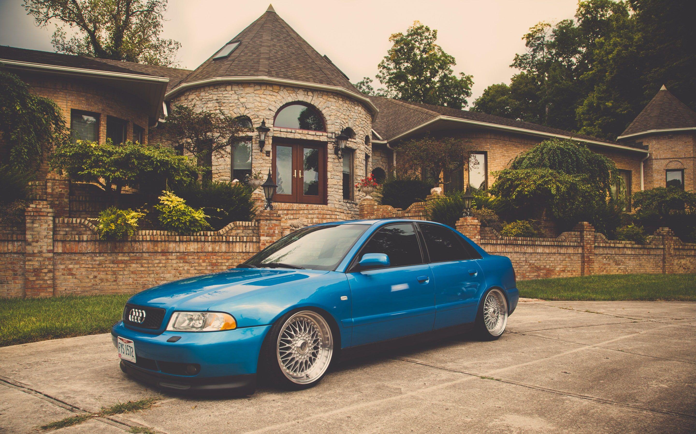 Audi, A4, B5, blue