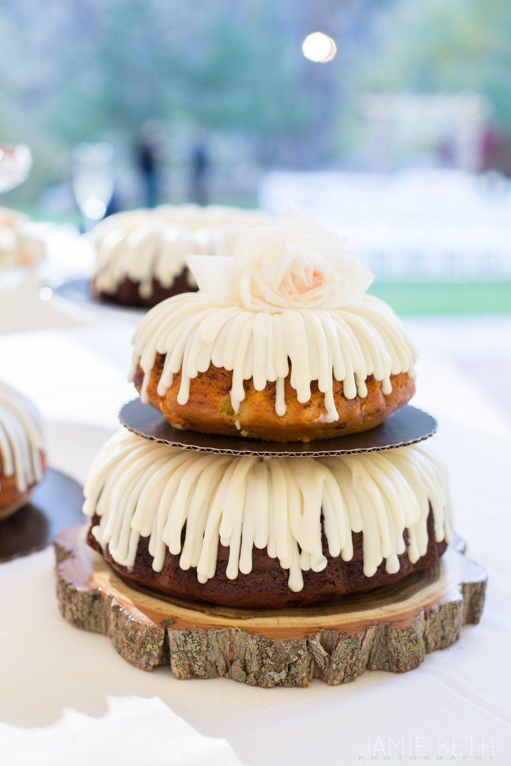 Nothing Bundt Cakes Wedding Cake In Boulder Colorado Photographed By Jamie Beth Photography