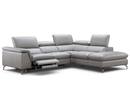 Low Profile Leather Reclining Sectional