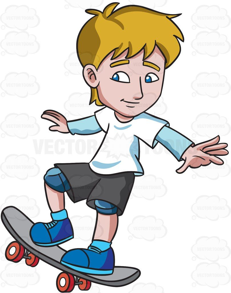 A Teenager Practicing How To Ride A Skateboard Bonecas