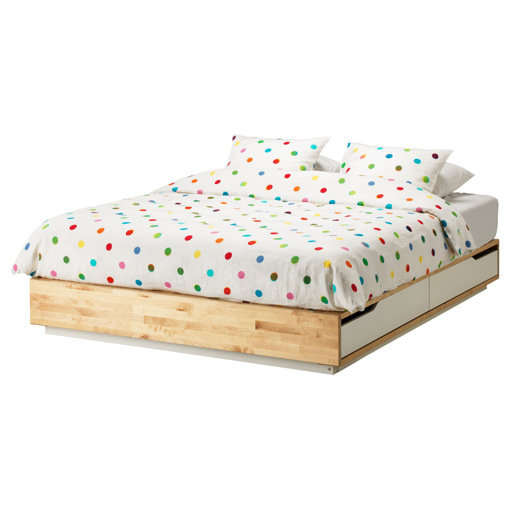 Delightful Guest House: MANDAL Bed Frame With Storage   Queen   IKEA $399   Really  Liking This For A Clean Modern Look, Coordinating Headboard Is Long Enough  To Put On ...