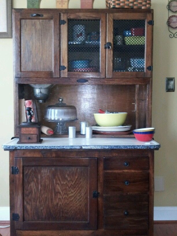My Houser Cabinet with pyrex dishes, a coffee grinder, Every ...