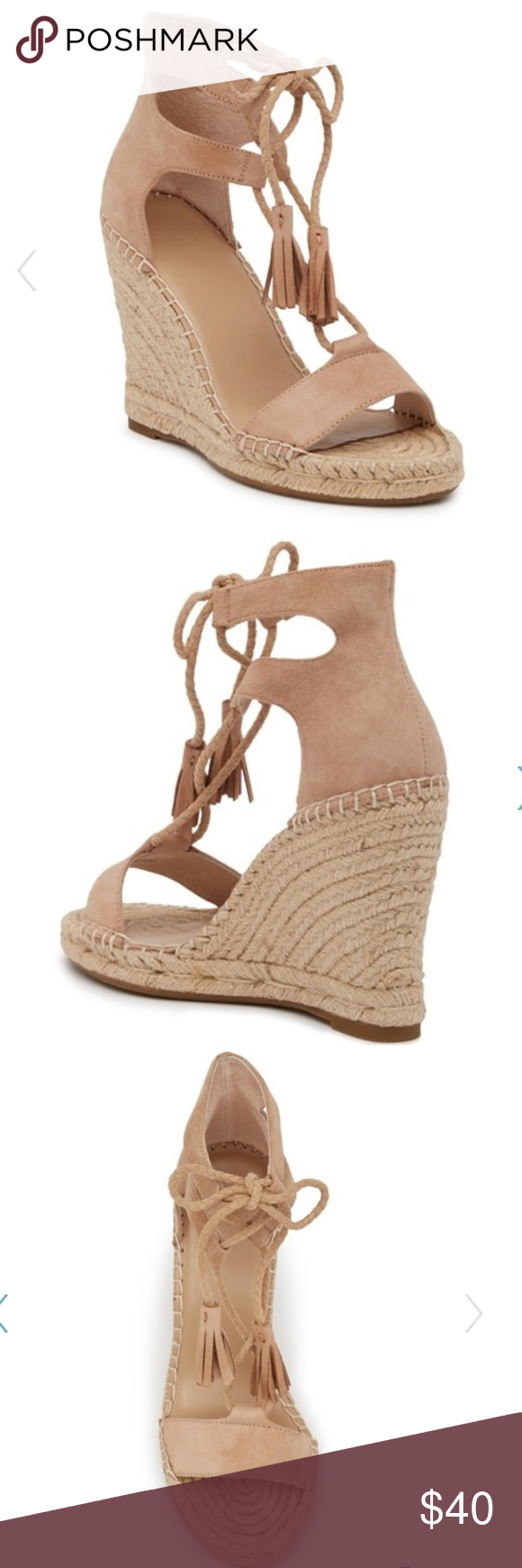 89f5c6dcf2e Joie delilah Espadrille Suede Wedge Sandal In excellent used condition Joie  Shoes Wedges