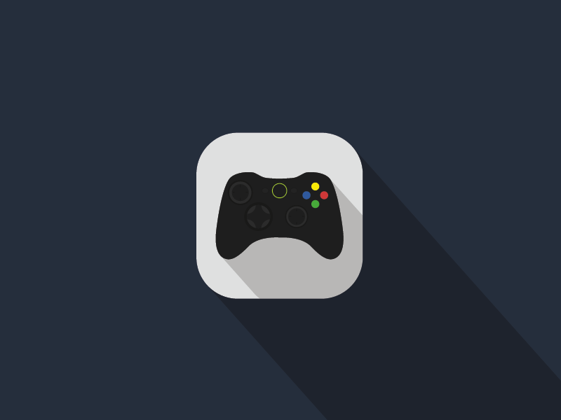 'Xbox' video game remote iOS Flat App Icon Concept Game