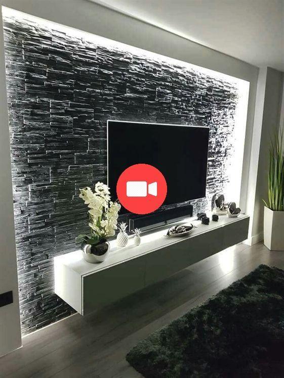 Photo of Moderne und anmutige TV-Wandgestaltung. Woh – Tiny Haus Familie Idee
