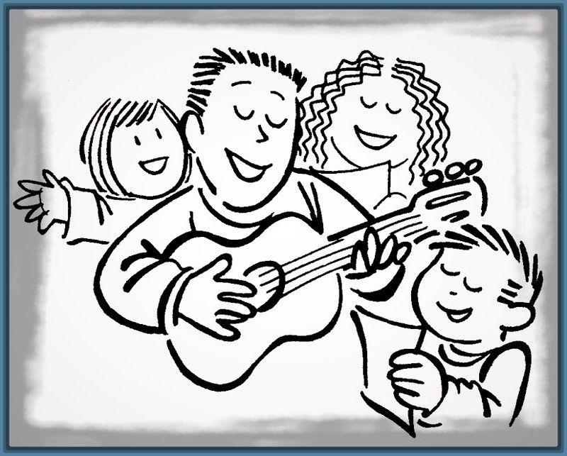 Dibujos Para Colorear De Familias Felices Familia Imágenes De