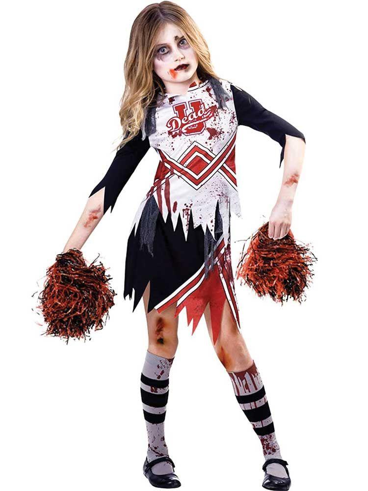 Blood Halloween Girls Fancy Dress Horror Spooky Kids Childrens Costumes Zombie