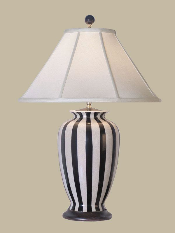 Porcelain Stripe Table Lamp Homes And Home Stuff Table