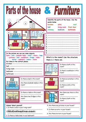 Parts of the house and furniture | parts of a house and ...