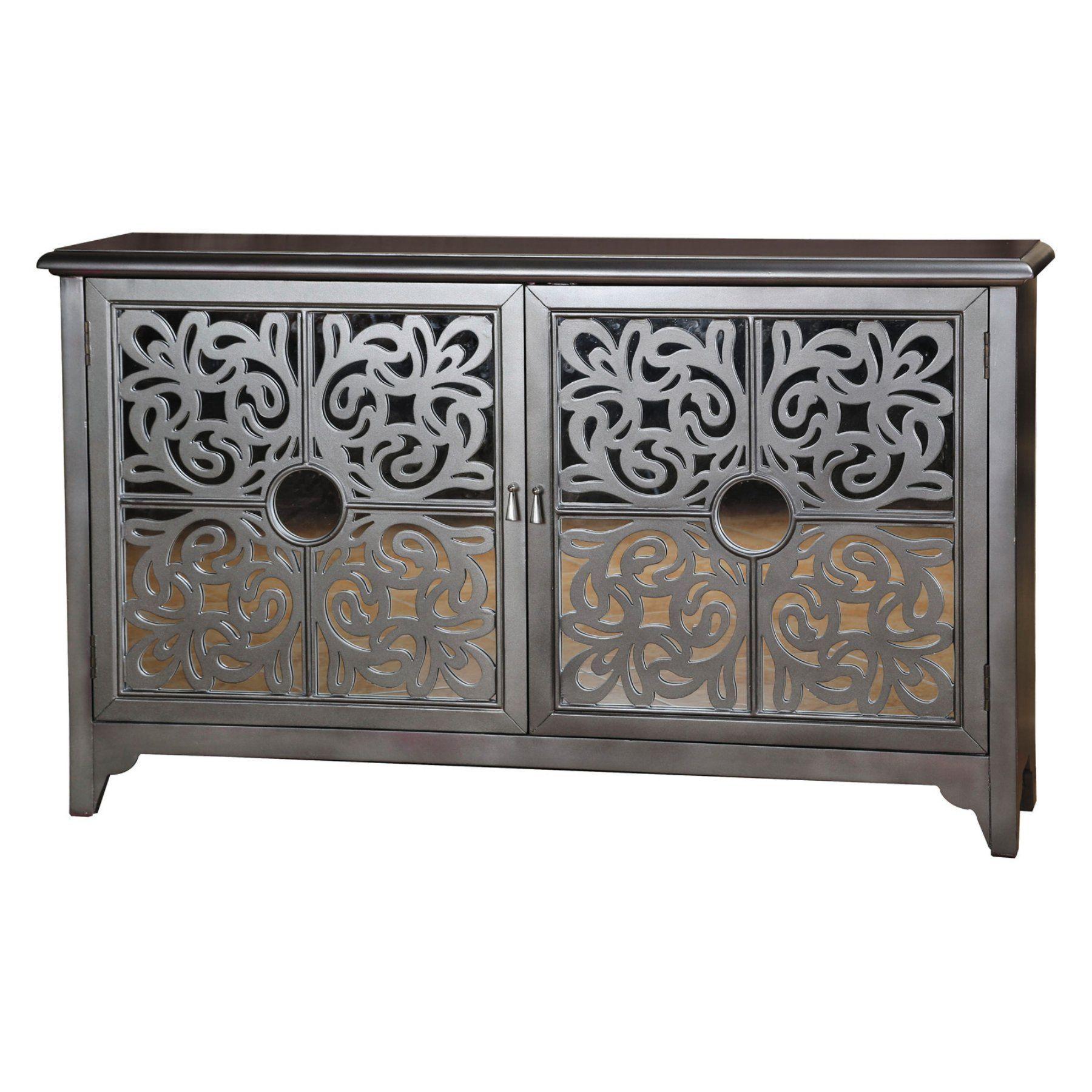 Pulaski Ornamental Fretwork Storage Credenza  675081