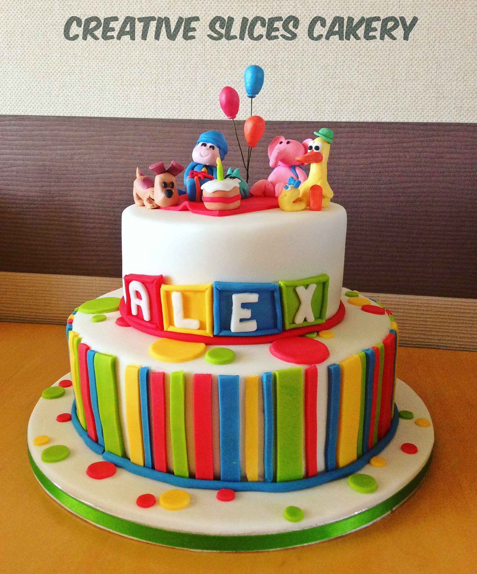 Pocoyo 1st birthday cake so cute Gillys cakes Pinterest