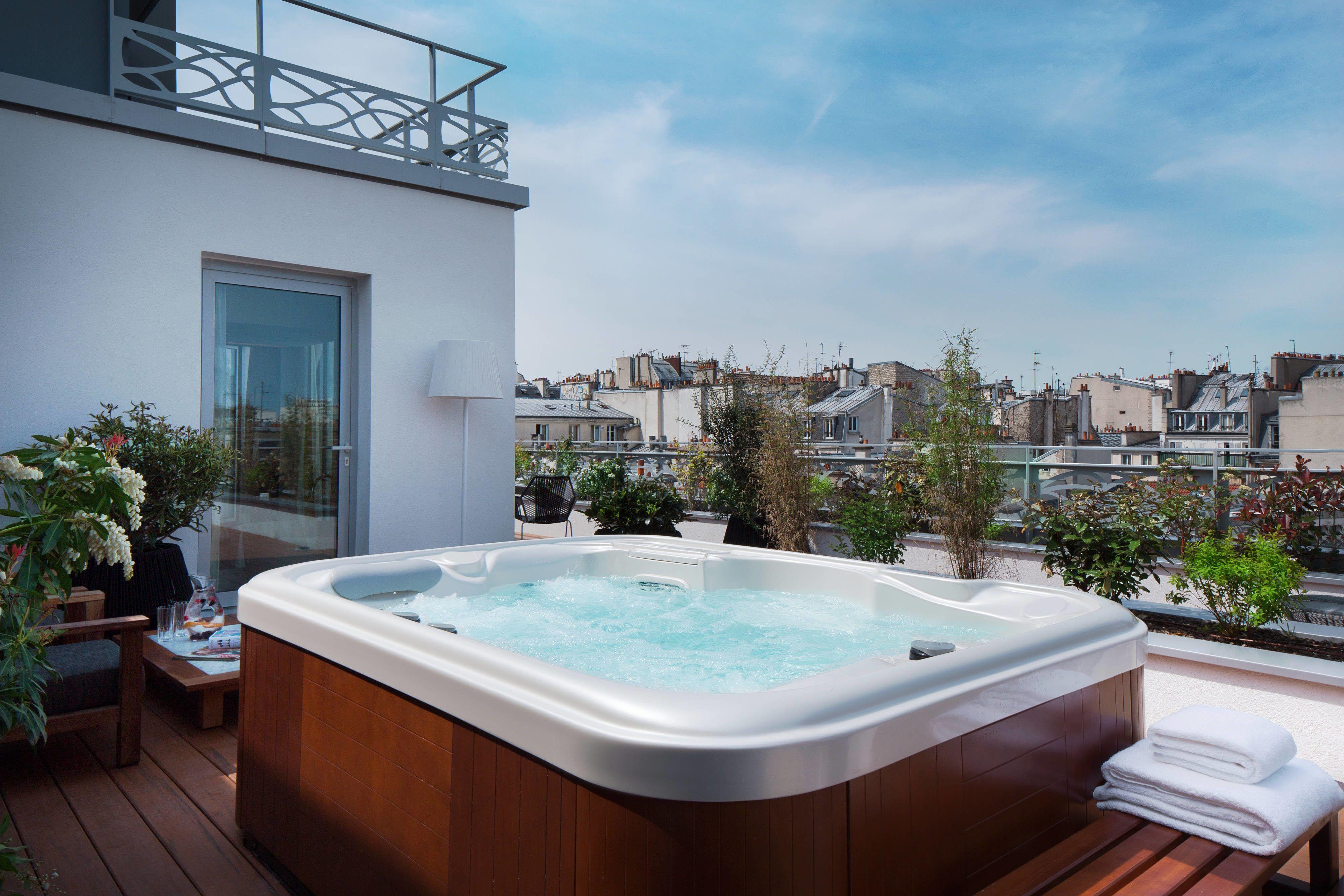 Renaissance Paris Republique Hotel Penthouse Suite Hot Tub Holidays Memorable Travel Hotel Spa Luxurious Bedrooms Best Hotel Deals
