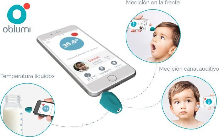 ¡Oferta! Termómetro digital de infrarrojos Oblumi Tapp para Smartphones con múltiples posibilidades por 37,23 euros.