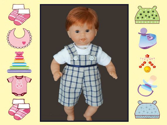 12 In Baby Doll Clothes Overalls And Shirt Melissa And
